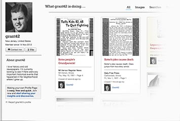 Profile page on La Crosse Tribune Archive